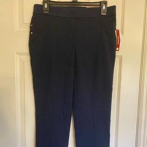 NEW Dressbarn pull on pants petite 10  navy      C